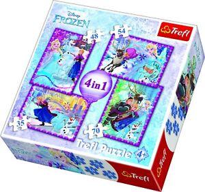 Trefl 4 en 1 35, 48, 54 et 70 pièces Disney Frozen Elsa Anna Olaf Jigsaw Puzzle  </span>