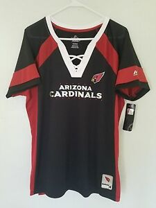 NEW MAJESTIC NFL Team Apparel ARIZONA CARDINALS V-Neck Jersey Shirt ... d537d0eb68