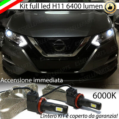 FULL LED H11 NISSAN QASHQAI J11 6000K BIANCO GHIACCIO CANBUS ANABBAGLIANTE