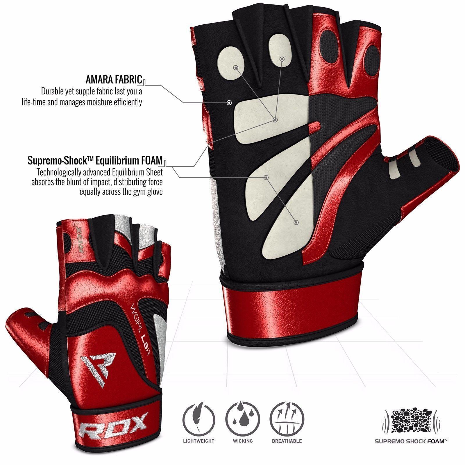 RDX Sporthandschuhe Fitness Gloves Gewichtheffen handschuhe Gym Workout Workout Gym ROT XL 6b9b41