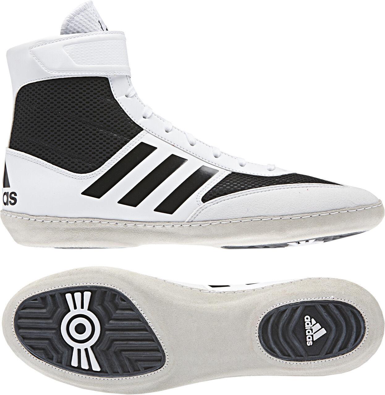 Adidas Combat Speed 5 Wrestling Shoes Stivali White/Nero Boxing MMA