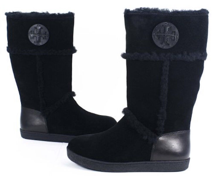 Tory Burch Amelie Shearling Boots - NEW Size 5 Black
