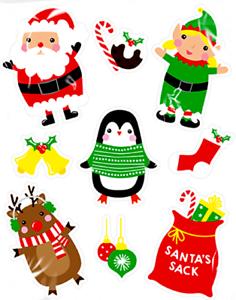 Natale-Babbo-Natale-Glitter-Decorazioni-Vetro-Della-Finestra-Adesivi-Decalcomanie-Natale