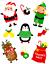 Père Noël Paillettes Fenêtre Verre Décorations Stickers Autocollants de Noël