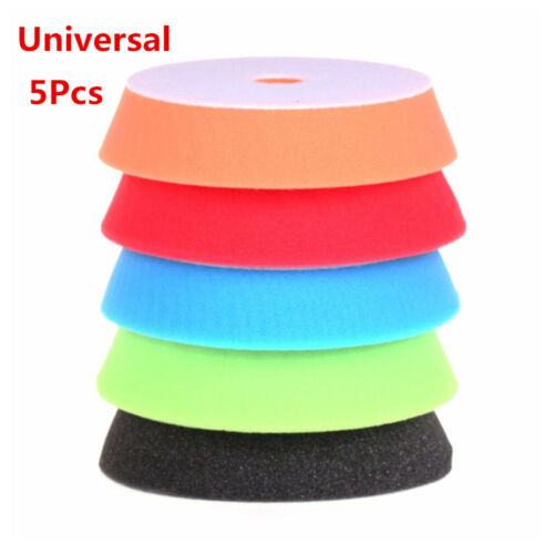"New 5 Pcs 6/"" Sponge Polishing Waxing Buffing Pads Kit Set For Car Auto Polisher"