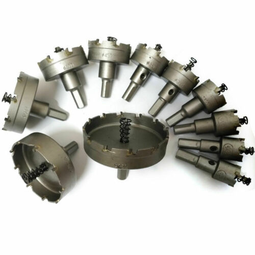 TCT Carbide Tip Hole Saw Carbide Metal Drill Bit Stainless Steel Cutter 15-50mm