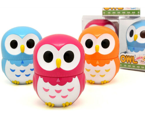 Cartoon Owl Timers Mechanical Kitchen Cooking Timer Manual Timer Counters GRB069