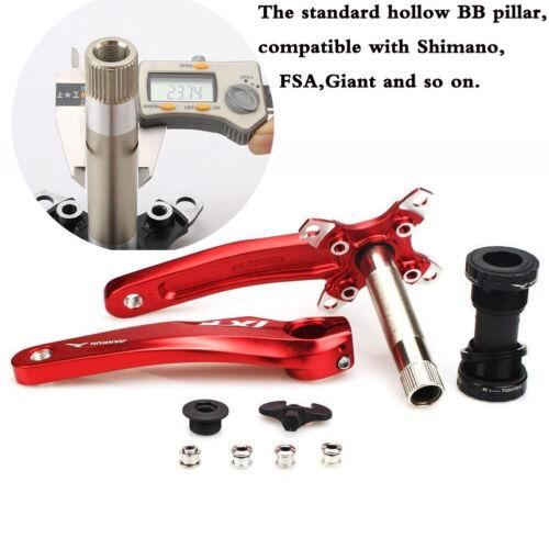 104bcd Crankset 9//16in Pedal MTB Mountain Bike Single//Double//Triple Crank BB