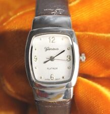 Vintage Geneva Platinum No. 8752 quartz ladies bracelet watch FREE SHIPPING