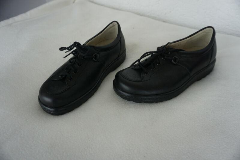 Ortopedico Natural Feet Scarpe Donna Scarpe Con Lacci Gr.34 Nero Pelle Nuovo