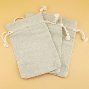 12pcs Muslin Storage Pouches Reusable 2 Drawstrings Spices Diy Gift