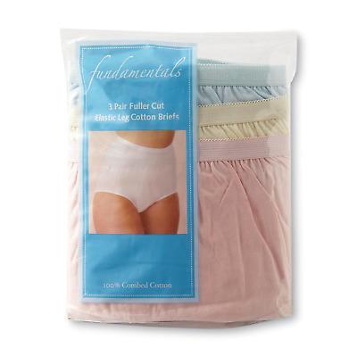 Fundamentals Womens 3 PR Nylon Briefs Underwear Blue Pink