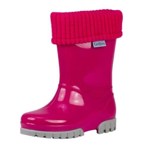 Terme Doublé Bottes rose//gris avec amovible Lavable en Machine Chaussette