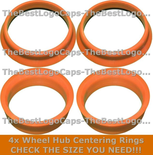 4x SPIGOT RINGS Wheel Bore Center Centering Hub Rim Collar Reducers Many Sizes
