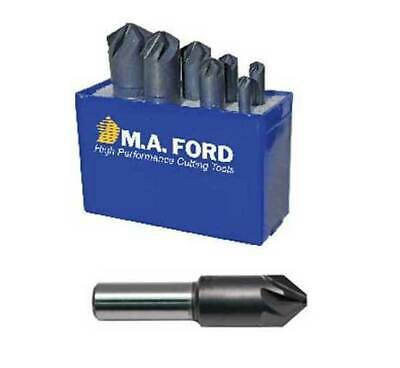 MA Ford 1//4 Dia 90 Angle High Speed Steel 6-Flute Chatterless Countersink