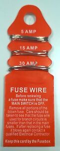 fuse wire card 5 amp 15 amp and 30 amp fuse box wire electrical image is loading fuse wire card 5 amp 15 amp and