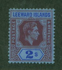 LEEWARD ISLANDS #112 GIBBONS #111ab MINT, F-VF, H - DEEP PURPLE COLOR VARIETY