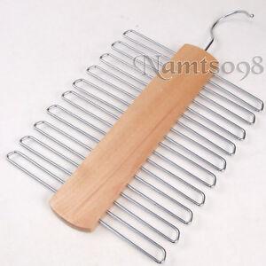 lotus-Wooden-Neck-tie-Scarf-storage-Display-hanger-Holder-Rack-Closet-organizer