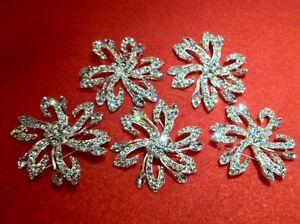 1 3 5 NEW Bridal Flower wedding brooch bouquet pin clear crystal rhinestones