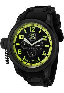 Invicta-1805-Men-039-s-Russian-Diver-Black-Dial-Black-Polyurethane