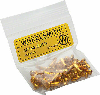 Wheelsmith 2.0 x 12 mm or Alliage Embouts Sac de 50