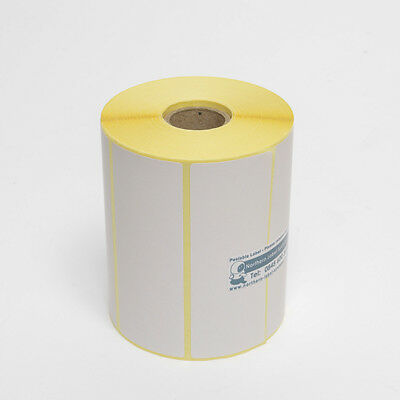 76mm x 38mm WHITE Direct Thermal Labels 1,000 per roll for Datamax printer