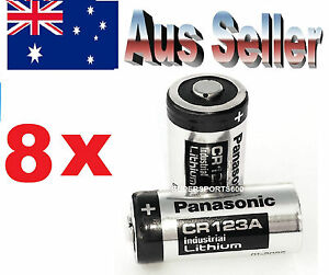 8 x panasonic cr123a 3v lithium battery primary non rechargeable cr dl 123 a ebay. Black Bedroom Furniture Sets. Home Design Ideas