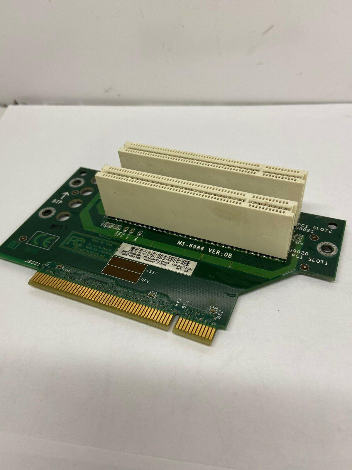 HP SFF MS-6986 PCI Riser Card Angle Adapter 323090-001 *Free Shipping *