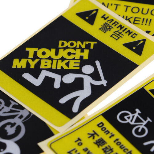 DONT TOUCH MY BIKE Bicycle Decorative Warning Sticker Waterproof Decal Yello gq
