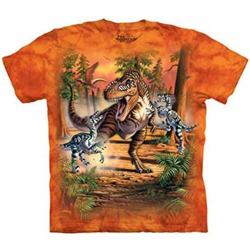 The Mountain 100/% Cotton Kid/'s T-Shirt Youth Tee Dino Battle M-L-XL NWT