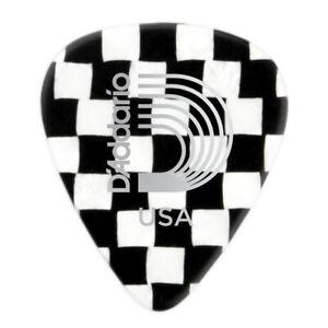 10-Checkerboard-Celluloid-Guitar-Picks-D-039-Addario-Medium-1CCB4-10