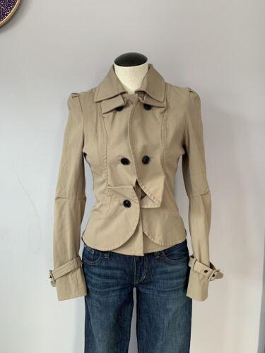 Small Nwot Cropped Zip Frakke Style Blazer Bebe Up Jacket Størrelse Trench OFwvdzxH