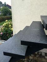 blockstufe trittstufe stufe steinstufe granitstufe weg ebay. Black Bedroom Furniture Sets. Home Design Ideas