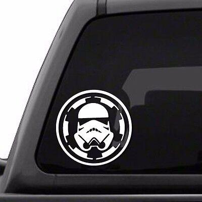 "Star Wars Stormtrooper /""I had friends on that Death Star/"" white vinyl decal"