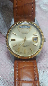 Vintage-Ricoh-Dynamic-Wide-034-Full-Day-Window-034-Automatic-21-jewelsDay-Date-Men-039-s