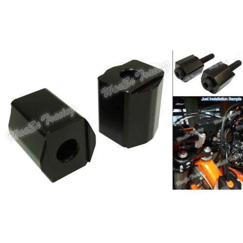 Handlebar Riser moves bar up 30mm (1 1/4) Black Fit KTM 1050 1090 1190 1290 ADV