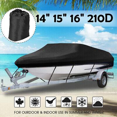 Waterproof Heavy Duty Boat Cover 11-13ft Fish-Ski Boat Speedboat Light Blue