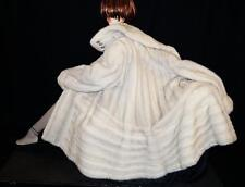 "AMAZING Gray Directional FEMALE mink fur coat jacket 85"" sweep"