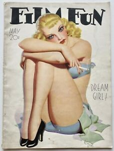 Vintage May 1935 Film Fun Magazine Spicy Cigarette Pin-Up Cover by Enoch Bolles