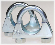 1 St Auspuff Edelstahl Rohr-Bügelschelle U-Bolt Clamp M8x 36 mm V2A Rundstahl