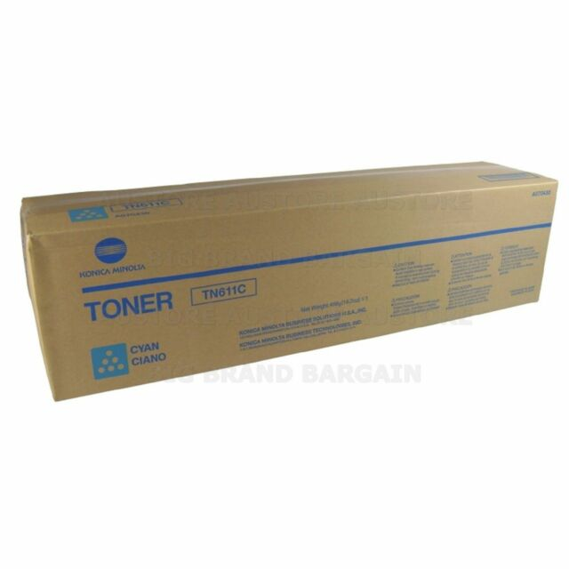 NEW GENUINEKonica Minolta A070450 / Cyan Toner Cartridge TN611C