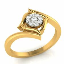 Demira Jewels Floral Promise Gold Diamond Ring