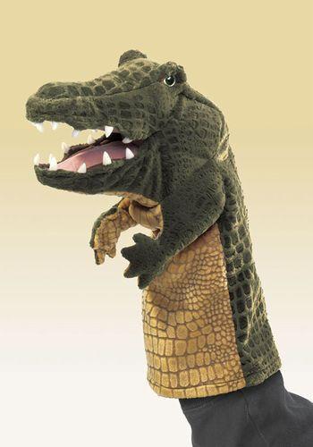 Krokodil Stage Puppet Folkmanis 2559 33cmT Ist es Wellig Folkmanis Puppet Handpuppe 5a054f