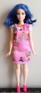 NEW PINK /& BLUE FLORAL PRINT top W// RUFFLED SLEEVES for CURVY Barbie doll