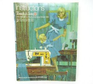 Vtg-SINGER-Touch-amp-Sew-Deluxe-Zig-Zag-Sewing-Machine-Instruction-Book-Model-640