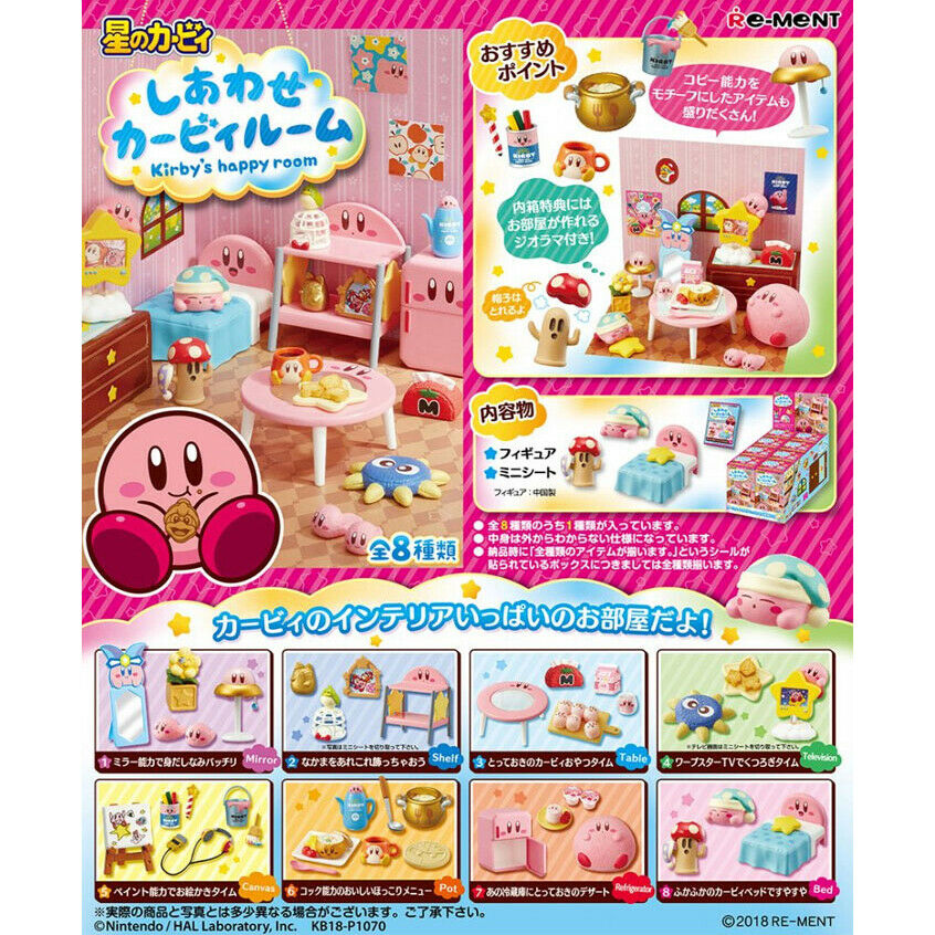 Re-ment Kirby's Happy  room Full set of 8 types - nuovo  essere molto richiesto
