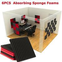 6Pcs Sound-Absorbing Foam Wedge Tiles Studio Sound Room Treatment For KTV Studio