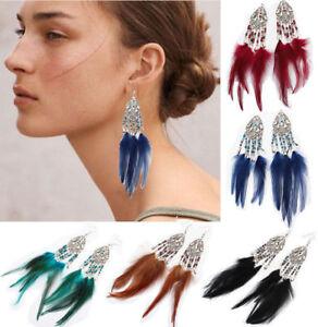 Women-Fashion-Bohemian-Earrings-Long-Tassel-Fringe-Boho-Dangle-Feather-Jewelry