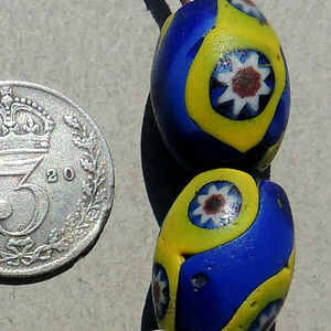 8-old-antique-venetian-oval-millefiori-african-trade-beads-1215
