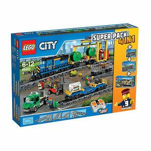 LEGO-City-Train-66493-4-en-1-60052-60050-7495-7499-Neuf-Scelle-FREE-UK-P-amp-P